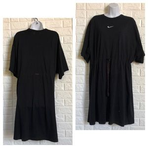 Nike drawstring tee dress coverup